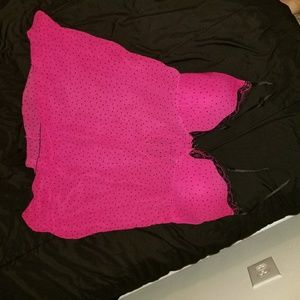 Pink and black polka dot nightie size xl
